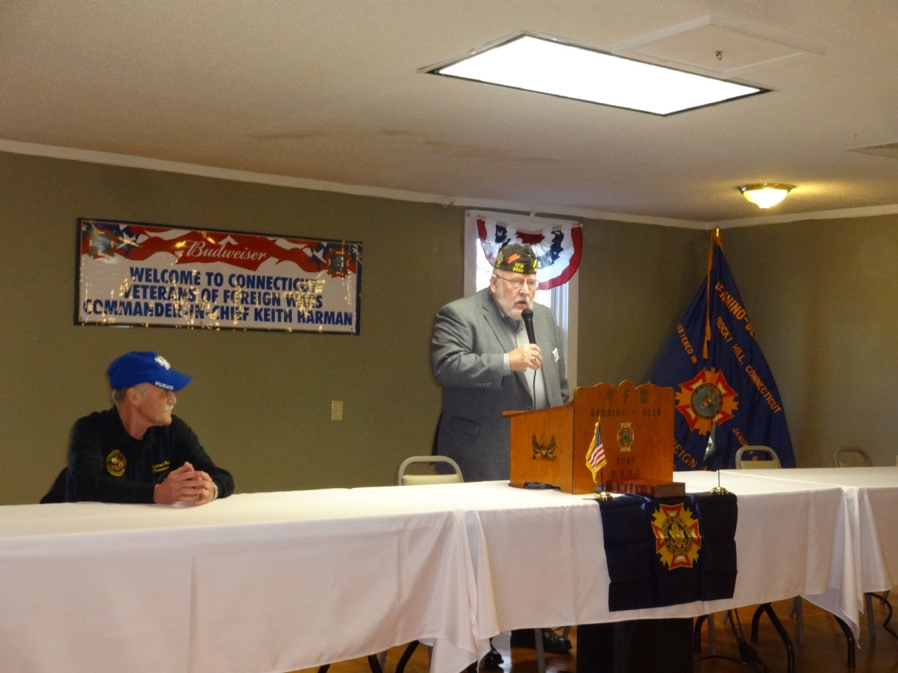 State Commander Robert Priest and C I C Keith Harman at VFW Post 2138 Rocky Hill