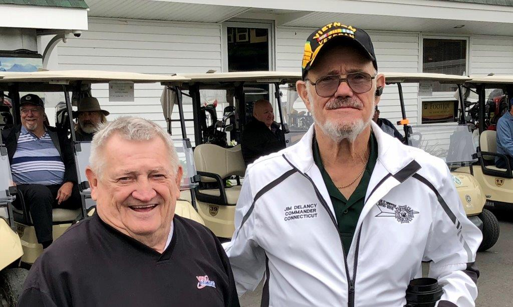 A little windy and chilly but that didn't dampen the spirit of the almost 60 golfers that played in the Patriot's Golf Tournament at Chipanee Country Club in Bristol yesterday.  We added over 20 golfers this year, and everyone had a great time. It can only get larger next year,. and it should get larger next year. This tournament helps fund the programs we provide for our Veterans and deployed troops.  It also allowed us to send