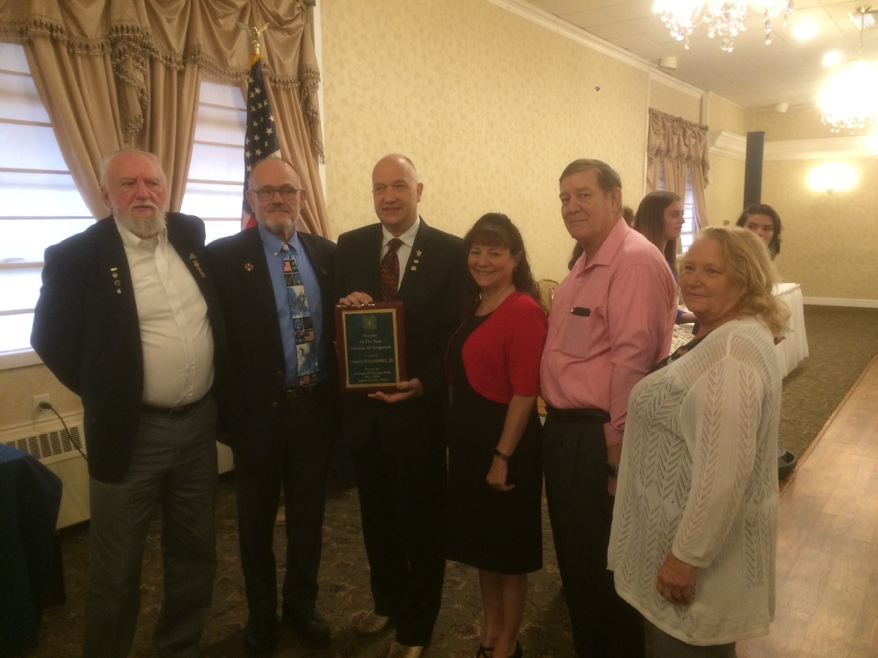 Mel, Ruth, Ann ,Stan , Jim and Skip, 9/23/2018 award ceremony at the Chrystal room Honoring Stan as Veteran of the year, put on by post 1964 Naugatuck